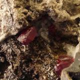 Cinabrio<br />Mina Escarlati, Puerto de las Señales, Maraña, Comarca Montaña Oriental, León, Castilla y León, España<br />7 x 8 cm.<br /> (Autor: Echevarria)