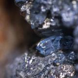 Escorodita sobre pirita. Encuadre 3 mm. Vilachán do Monte , Tomiño (Pontevedra) (Autor: usoz)