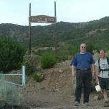 Al Cherepon and Gordan May at the entrance to the Kelly Mine. (Author: Paul Bordovsky)