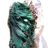 Malachite 2.5 x 5.0 cm With a very old unnamed label (Author: rweaver)