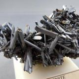 Stibniite White Cap Mine Manhatten, Nev. 6.1cm x 4.7cm (Author: rweaver)