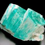 Microcline var. Amazonite with Topaz, Zapot Mine, near Hawthorne, Mineral County, Nevada. 11x7x5 cm overall size. (Author: Jesse Fisher)