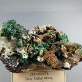 Cerussite and Malachite Beer Cellar Mine, Granby, Newton Co., Missouri 8.2cm x 5.0cm (Author: rweaver)