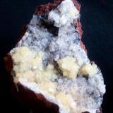 "Adamite. Locality: ""La Ojuela"" mine, Mapimí, Durango, México size:10.5cm x 6.5cm (Author: Luis Domínguez)"