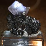 Fluorite with Sphalerite from Elmwood mine Tennessee. Measures 9 x 7 x 5 cm and weighs 230 grams (Author: VRigatti)