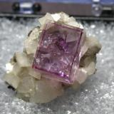Fluorite on Dolomite from Dolomite Products Quarry, Penfield, New York, USA size:1.9cm X 2.3cm X1.3cm (Author: pro_duo)
