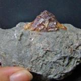 Sphalerite. 2º level.. Mánforas Mine. Áliva. Cantabria. Spain. 7 cm. (Author: nimfiara)