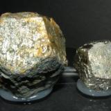 Pyrite. Valuengo. Badajoz. Extremadura. Spain. 6 cm and 3.5 cm (Author: nimfiara)