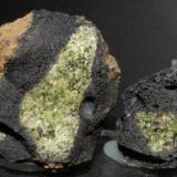 Forsterite. Llorá. Gerona. Cataluña. Spain. 5 cm. and 3 cm. (Author: nimfiara)