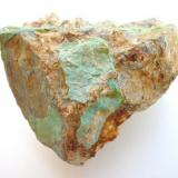 Turquoise from Chrieschwitz, Plauen, Voigtland, Saxony. 8 cm sample having been found during construction works in 1977. (Author: Andreas Gerstenberg)