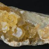 Fluorita y Baritina (detalle) - Mina Moscona, Solis, Asturias, España  Medidas. 12,5x9x4 cms (Autor: Joan Martinez Bruguera)