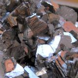 Arsenopyrite. Yaogangxian Mine, Yizhang County, Chenzhou Prefecture, Hunan Province, China. 7 x 6 x 1.5 cm. (Author: Lumaes)