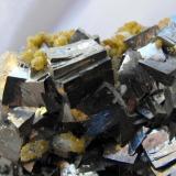 Arsenopyrite with Siderite. Dachang Polymetallic Ore Field, Nandan County, Hechi Prefecture, Guangxi Zhuang Autonomous Region, China. 9 x 6 x 5 cm. (Author: Lumaes)