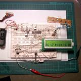 """Before we start building a commercial like device we need to know if the basic design is valid so we assemble the circuit on what is known as a """"bread board"""" and test it. Yep it works; so onto step 2. (Author: Lumaes)"""