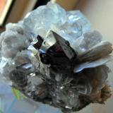 Beryl, Cassiterite and Muscovite. Mt Xuebaoding, Pingwu County, Mianyang Prefecture, Sichuan Province, China. 9 x 8 x 6 cm. (Author: Lumaes)