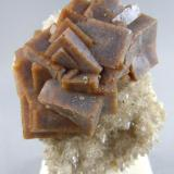 Fluorite on Calcite Pints Quarry Raymond, Iowa 4.8cm x 6.6cm (Author: rweaver)