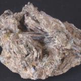 Ferroactinolita - Cantera minera I, Lebrija, Sevilla, Andalucia, España Medidas: 5 x 4 x 2,5 cms (Autor: Joan Martinez Bruguera)