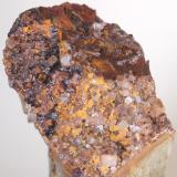 Baritina con Hematites & Limonita Pedrera dels Frares - L'Avençó - Aiguafreda - Vallès Oriental - Barcelona - Catalunya - España Medidas: 6,5 x 5 x 3,5 cms (Autor: Joan Martinez Bruguera)