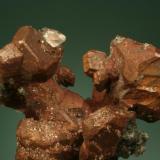 Copper, Calcite, Datolite. Quincy mine, Hancock, MI. (Author: John Jaszczak)
