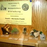 Some other fluorites (Cave-In-Rock, Riemvasmaak and several Namibian localities) plus an invitation to a fluorite special exhibition. (Author: Tobi)