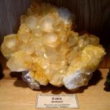 Yellow Calcite from Belgian La Sambre Quarry. (Author: Tobi)
