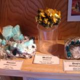 Finally some classics, amazonite from Pikes Peak in Colorado, wulfenite from Mexican San Francisco Mine, dioptase from Kazakhstan. (Author: Tobi)