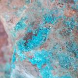 Calcantita (detalle) Mines del Remei El Vilar de la Castanya El Brull El Montseny Barcelona Catalunya España Medidas: 11 x 6 x 5 cms (Autor: Joan Martinez Bruguera)