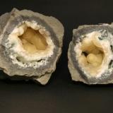 Prehnite, 10 cm. in  diameter vug, Southbury, CT. (Author: vic rzonca)