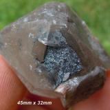 Messina 5 shaft hematite crystals on hematite included quartz crystal-south africa.jpg (Author: Anton Potgieter)