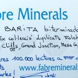 _Barita Book Cliffs area, Grand Junction, Mesa Co., Colorado, EUA Etiqueta (Autor: Carles Millan)