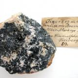 """Tigererz"" - ankerite with minor intergrown argentite: 8,5 cm sample from Himmelfahrt mine, Freiberg, Saxony. (Author: Andreas Gerstenberg)"