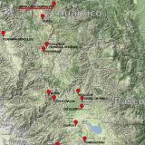 _Barita  ¿Y dónde está el cerro de Huarihuyn? (las marcas de color rojo señalan localidades con minerales interesantes) (Autor: Carles Millan)