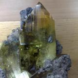 Anglesite Touissit, Oujda, Morocco Big cristal 7,5 cm. (Author: Enrique Llorens)