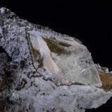 Calcita epimórfica sobre yeso<br />El Pilar de Jaravía, Pulpí, Comarca Levante Almeriense, Almería, Andalucía, España<br />11x10,7 cm. Cristal 7 cm.<br /> (Autor: Juan Luis Castanedo)