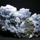 Barita Azul - Mina Moscona - Solís - Corvera - Asturias Pieza de 28 x 16 cm. cristal mayor 5,5 cm. (Autor: El Coleccionista)