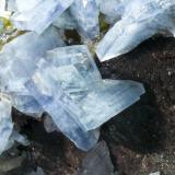 Barita Azul + Fluorita + Dolomita - Mina Moscona - Solís - Corvera - Asturias Detalle de la pieza anterior (Autor: El Coleccionista)