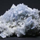 Barita Azul + Fluorita + Dolomita - Mina Moscona - Solís - Corvera - Asturias Pieza de 10 x 8 cm. cristal mayor 2,5 cm. (Autor: El Coleccionista)