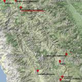 _Mapa donde se puede ver la posición geográfica del distrito de Pasto Bueno y la mina Huayllapón, a unos 5000 m de altitud. (Autor: Carles Millan)
