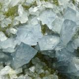 Celestina Cantera Minerama - Cerro Moreno - Puente Tablas - Jaén Pieza de 18x18 cm. cristal mayor 4 cm. Detalle de la pieza anterior (Autor: El Coleccionista)