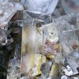 Celestina Cantera Minerama - Cerro Moreno - Puente Tablas - Jaén Pieza de 8x8 cm. cristal mayor 3 cm. Detalle de la pieza anterior (Autor: El Coleccionista)