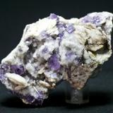 Fluorita + Barita + Cuarzo La Cabaña - Berbes - Asturias Pieza de 10x6 cm. cristal mayor 1 cm. (Autor: El Coleccionista)