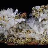 Hemimorfita. Mina Ojuela. Mapimí. Municipio de Mapimí. Durango México.  15x7 cm. Cristal mayor 1.7 cm. (Autor: Juan Luis Castanedo)