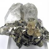 Stannite, arsenopyrite, quartz, fluorite, mica Yaogangxian Mine, Yizhang Co., C 80 mm x 70 mm (Author: Carles Millan)