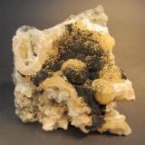Julgoldite (Pumpellyite Group) on Prehnite Southbury, New Haven County, Connecticut, USA Specimen size 10x10 cm. (Author: vic rzonca)