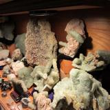 "Mostly prehnite and friends. All Westfield, Massachusetts, USA Field of view  12""x12'x24"". (Author: vic rzonca)"