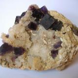 Fluorite, quartz, baryte Berbes, Berbes Mining area, Ribadesella, Asturias, Spain 105 x 70 x 75 mm (Author: Tobi)