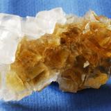 Fluorite - Calcite Moscona Mine, Solís, Asturias, Spain 6x3,5 cm (Author: Enrique Llorens)