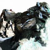 Malaquita cristalizada primera generación Mashamba West Mine, Kolwezi, R.D. Congo 11x6 cm (Autor: E. Llorens)