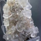 Fluorita. Mina La Viesca. La Collada. Pola de Siero. Asturias. Pieza: 6.5 x 5 cm. Cristal mayor: 1.2 cm. (Autor: Juan Cabezas)