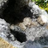 Geoda de Cuarzo con Goethita. Asni, Marruecos. 14x12 cm (Autor: nerofis2)
